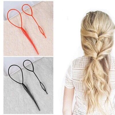 2x Hair Styling Tools Topsy Tail Ponytail Twister Braiding *1 LARGE/1 SMALL*