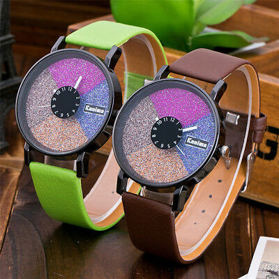 Fashion Women Beautiful Leather Casual Watch Luxury Analog Quartz Round Watch