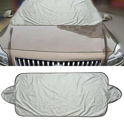 Car Windshield Cover Sun Shield Snow Frost Freeze Protector Tarp Magnet Cloth
