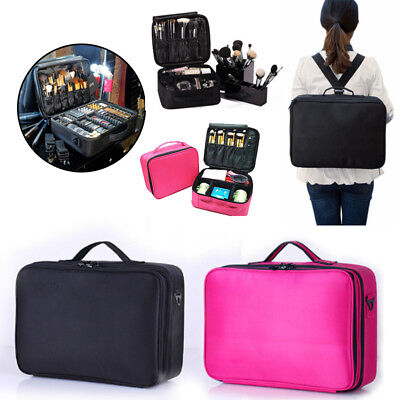 Professional Large Make Up Bag Vanity Case Cosmetic Nail Tech Storage Beauty Box