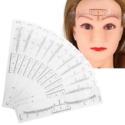 50pc Disposable Eyebrow Ruler Sticker Stencil Microblading Tattoo Makeup Measure