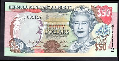 Bermuda; Monetary Authority, 50 dollars, replacement, 24-5-2000, Z/1 001112, AU.
