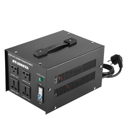 3000W Convertidor de Voltaje 220V a 110V Step Up/ Down Regulador Transformador