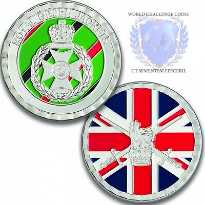 Army Challenge Silver Coin Medal - Royal Green Jackets Challenge Coin