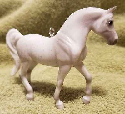 Custom Stablemate Classic Grey White Arabian Horse Breyer Christmas Ornament