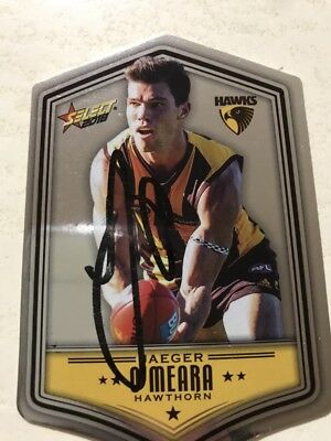 JAEGER OMEARA HAWTHORN 2018 DIECUT INSERT SELECT autographed card