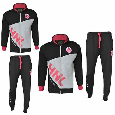 Girls Designer's Tracksuit HNL Zipped Top Bottom Kids Jogging Suit 7-13 Years