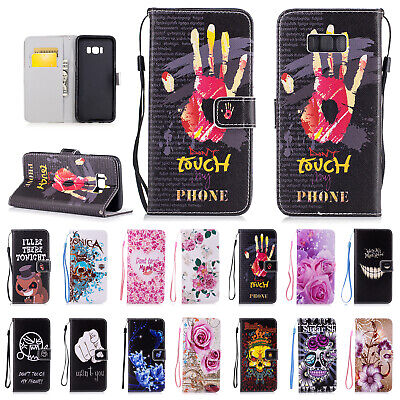 Magnetic Flip Pattern Painted Wallet Stand Case Cover For Samsung Galaxy Phones