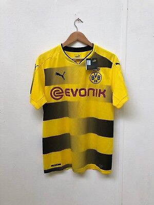 PUMA Men's Borussia Dortmund 17/18 League Home Shirt - Medium -Yellow - New