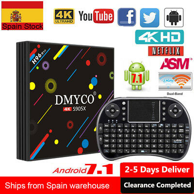 H96 Pro Android 7.1 Smart TV Box 2GB/16GB Quad-Core S905X 5G WIFI HDR10+Keyboard