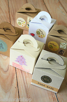 Square Favour Boxes vintage style wedding favour Xmas gift box craft packaging