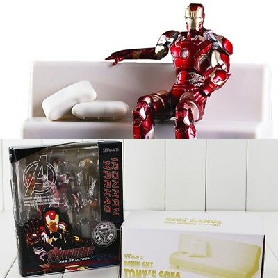 SH Figuarts/ Iron Man Mark 43 with Sofa/ PVC/ Action Figure/ 15cm in box