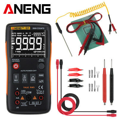 ANENG Q1 True-RMS Digital Multimeter Button 9999 Counts With Analog Bar Graph IS