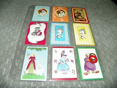 #48  -  Mixed Lot  - 9 Single Vintage Blank Back Swap Trading Cards   LAST CALL!