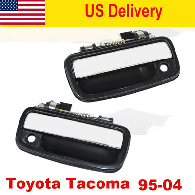 Front Both Side Outside Door Handle Chrome for 95-04 Toyota Tacoma Pickup Truck