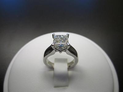1.50 Ct Princess Cut D/VVS1 Diamond 14K White Gold Fn Solitaire Engagement Ring