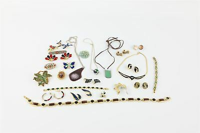 Lot of 25 x Vintage Enamel Themed Mixed Costume Jewellery Inc. Exquisite Brooch