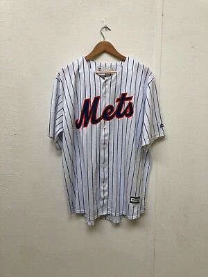 New York Mets Majestic Men's Cool Base Home Jersey - Various Sizes - White - New
