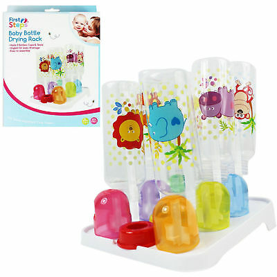 Baby Toddler 9 Bottle Drying Rack Easy Storage Sterilise
