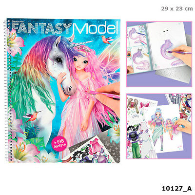 Create your Fantasy Model Depesche - Malbuch mit Stickern 10127