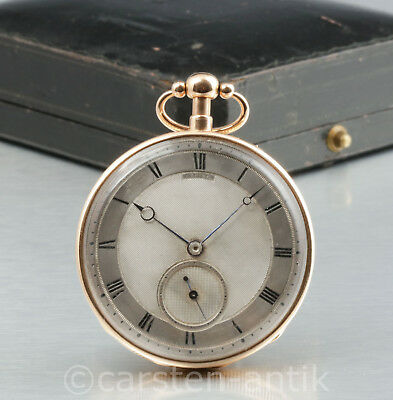 Lepine l'imperatrice circa 1807 early keyless pocket watch 1/4 repeater 18k Gold