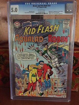 Brave and the Bold #54 CGC 5.0 DC 1964 1st Teen Titans!