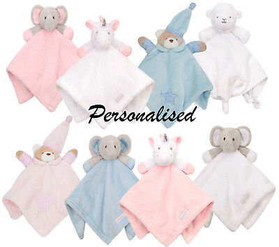 Personalised Baby Comforter Embroidered Newborn Gift Comfort Blanket Blankie New