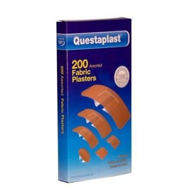 200x Assorted Washproof Plasters Durable Bandages First Aid Medicine Safety UK