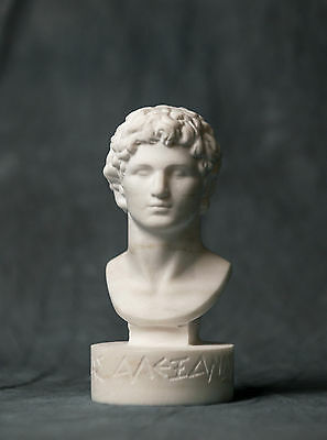 MARBLE bust of Alexander the great statue carved Greek marble figurine sculpture