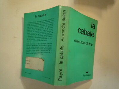 Alexandre Safran La Cabale Editions Payotheque 1979