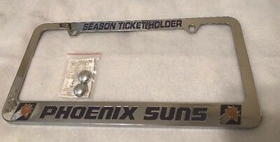 Vintage Phoenix Suns Season Ticket Holder Hvy Metal License Plate