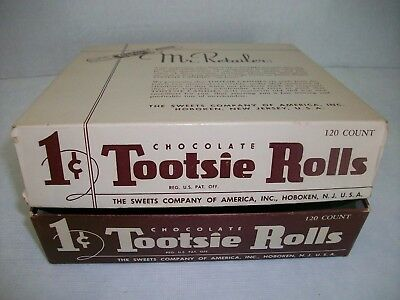 Vintage Tootsie Roll Candy Box 1 Cent Candy Display