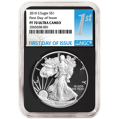 2018-S Proof $1 American Silver Eagle NGC PF70UC FDI First Label Retro Core