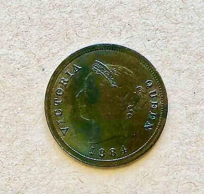Cyprus 1/4 Piastres, Queen Victoria, 1884 In Vf Condition. Very Rare!