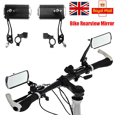 1Pair Bike Mirror Mountain Bicycle Rearview Handlebar End Rear Back View MTB NEW