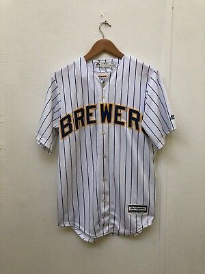 Milwaukee Brewers Majestic Men's Alt 3 Jersey - Various Sizes - White - New