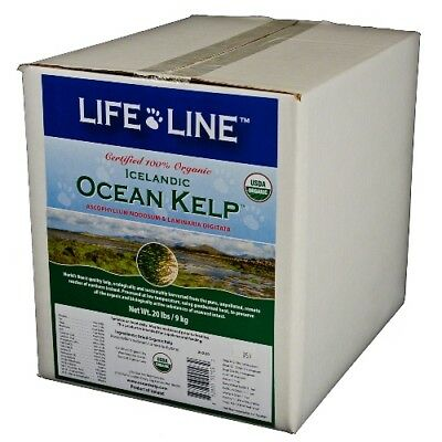 Kelp 20lbs certified organic,trace element + mineral supplement f/ dogs & cats