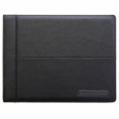 Leather 7 Ring Business Check Binder