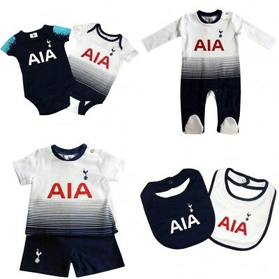 Tottenham Hotspur Baby Kit Baby grow Sleepsuit Vest Spurs New 2018/19 Kit Design
