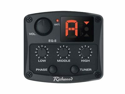 Tonabnehmer  active 3-band guitar pickup preamp tuner System für Westerngitarre