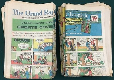 COMIC STRIPS, SUNDAY NEWSPAPERS, 54; various dates 1974-1977; Vintage & Original