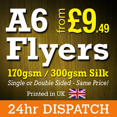 A6 Flyers Leaflets Printed Full Colour 170gsm 300gsm Silk - A6 Flyer Printing