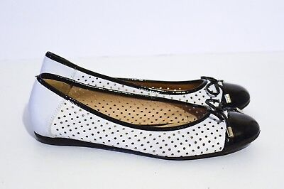 9214416b342a GEOX LOLA WOMEN Ballet Flats Slip-On D22M4X White 8 38 NEW -  89.99 ...