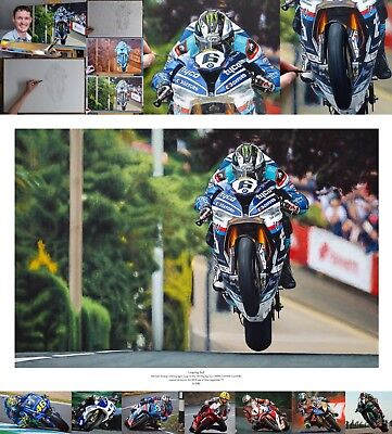 Michael Dunlop Tyco BMW S1000RR 2018 Superbike TT fine art print by Billy