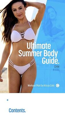 NEW Krissy Cela 12 Week Ultimate Summer Body Guide Gym Edition Fitness