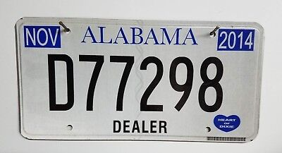 2014 Alabama Dealer License Plate/Tag ~D77298~ Flat *Free Shipping*