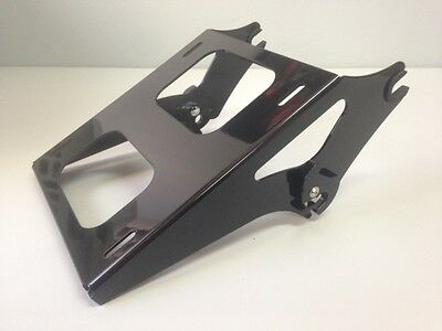 black GLOSS HARLEY TWO-UP cruiser touring TOUR PACK PAK MOUNTING BRACKET RACK