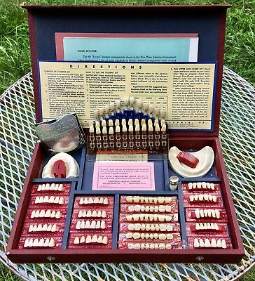 Vintage Five Phase Experimental Kit Dental Anteriors  Teeth - Dentures