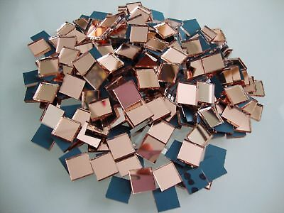 Mosaic Quality Rose Gold Mirror Glass Tiles for Art & Craft, 1 x 1 cm, 100 pcs