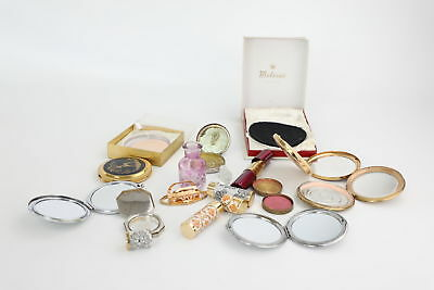 12 Vintage Ladies Compacts/Mirrors&Lipstick Views Inc. Stratton etc